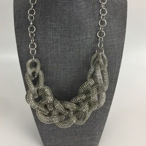 Express Chunky Statement Mesh Necklace